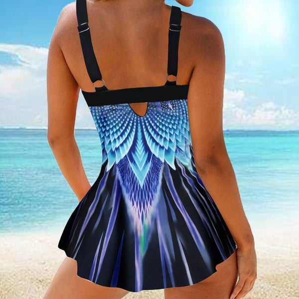 Fairy feathers bandeau tankini - Dots Clothing Store