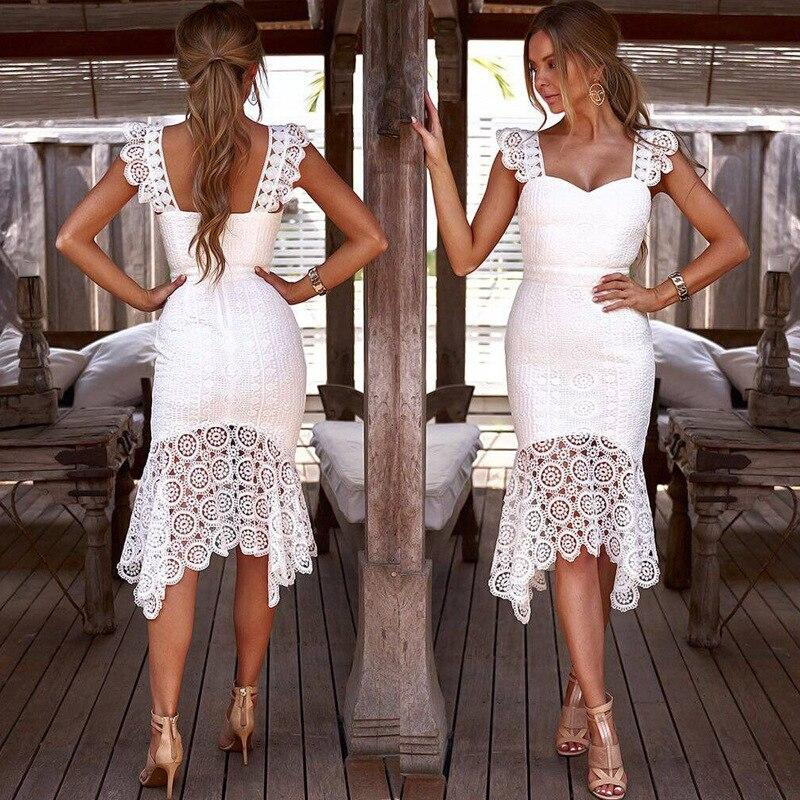 Floral Patchwork Long Ruffle Hem Dress - Dots Clothing Store