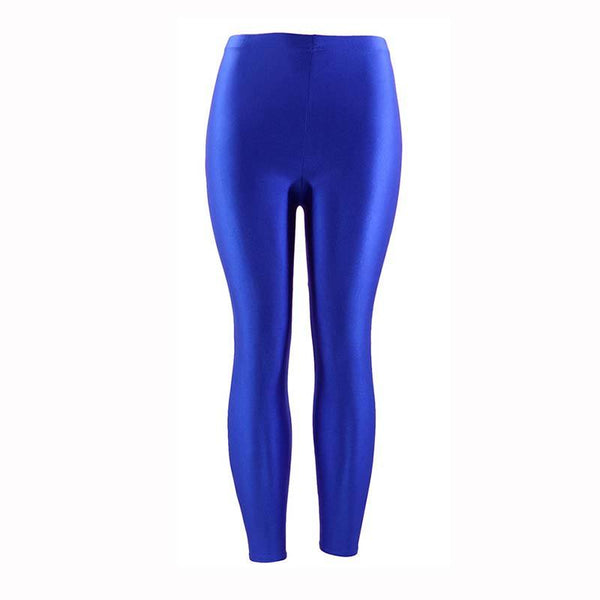 Fluorescent Shiny High Waist Leggings - Dots Clothing Store