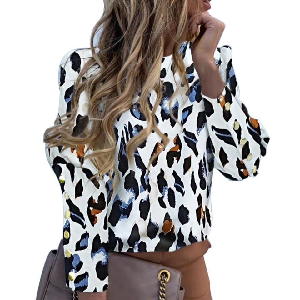 Fruity print puff sleeve blouse - Dots Clothing Store
