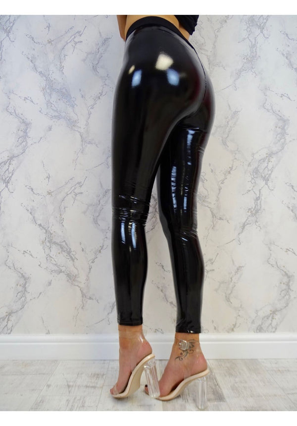Gothic Stretchy Shiny Leggings - Dots Clothing Store