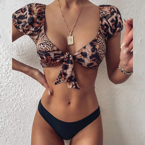 Gradient Color Print Bikini - Dots Clothing Store