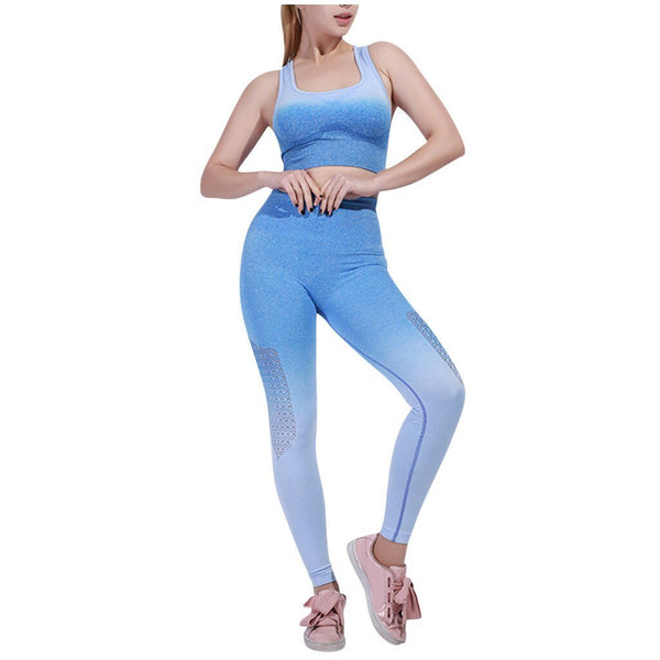 Gradient High Stretchy Workout Sport Set - Dots Clothing Store