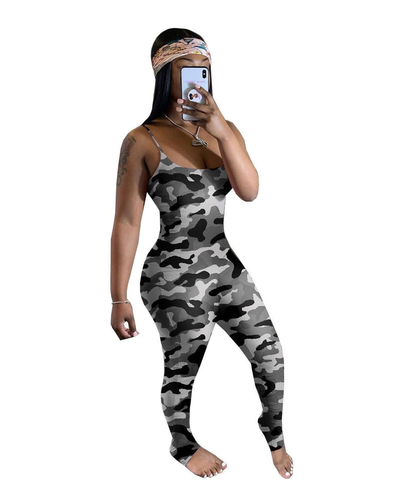 Gradient Stacked Leggings Jumpsuit - Dots Clothing Store