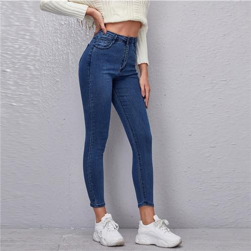 High Waist High Stretch Skinny Jeans - Dots Clothing Store