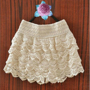 Lace Crochet Elastic Waist Slim Skirt - Dots Clothing Store