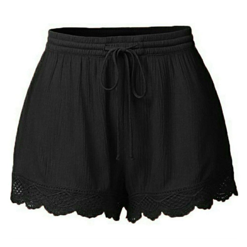 Laced High Waist Summer Shorts - Dots Clothing Store
