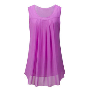Lil mini pleated design chiffon top - Dots Clothing Store