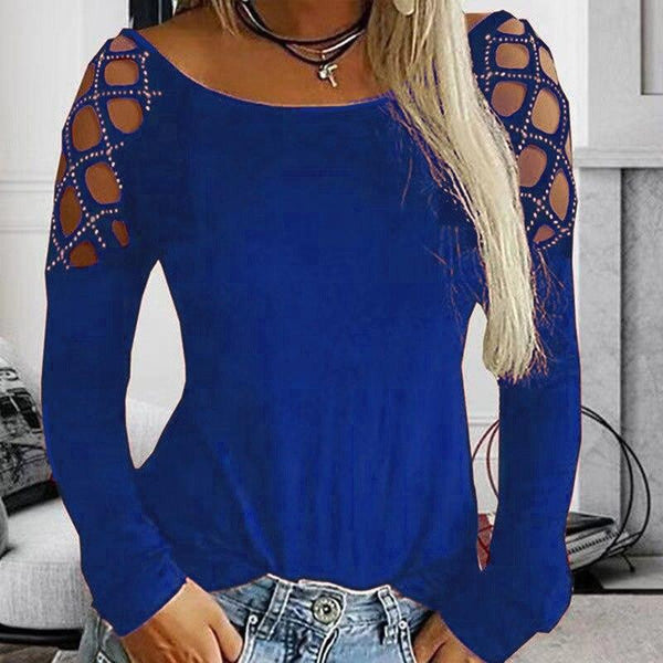 Loose Cold Shoulder Top - Dots Clothing Store