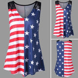 Love of country v-neck tank top - Dots Clothing Store