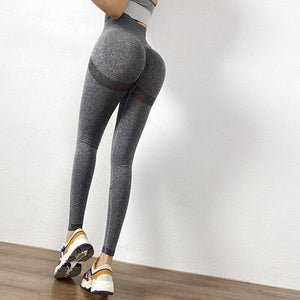 Mesh Inset High Waist Push Up Leggings - Dots Clothing Store