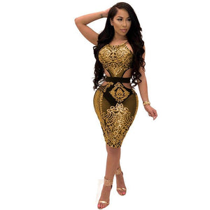 Mesh Sequin Floral Bodycon Dress - Dots Clothing Store