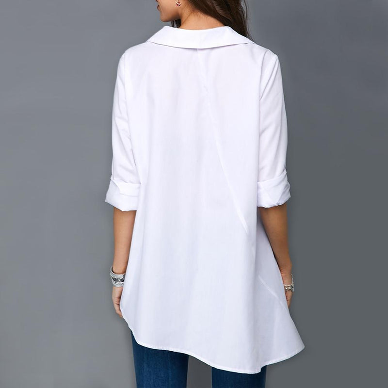 Multi-color button tunic blouse - Dots Clothing Store