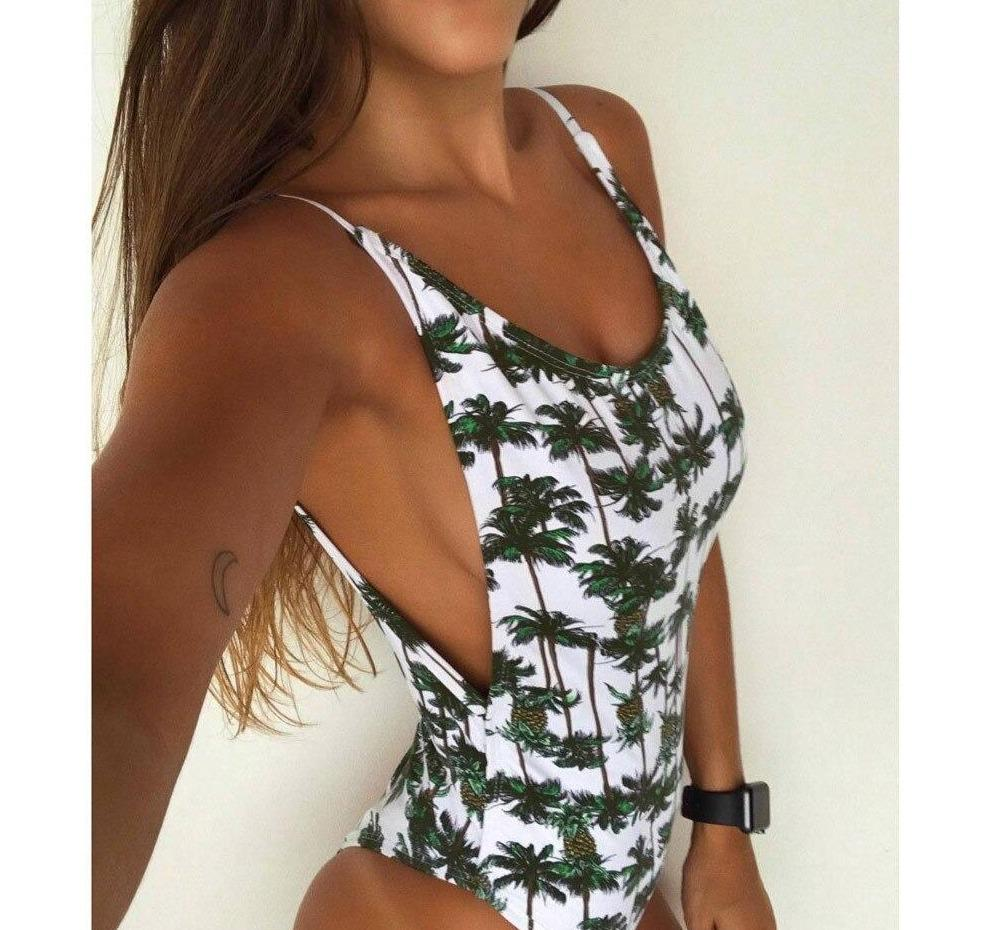 Pineapple Print Monokini Bathing Suit - Dots Clothing Store