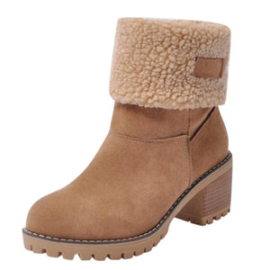 Plush warm snow boots - Dots Clothing Store
