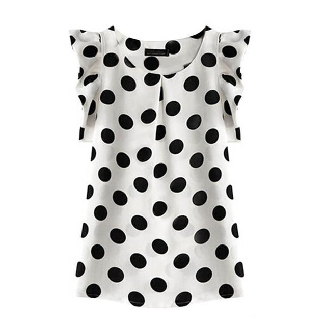 Polka Dot Chiffon Shirt - Dots Clothing Store