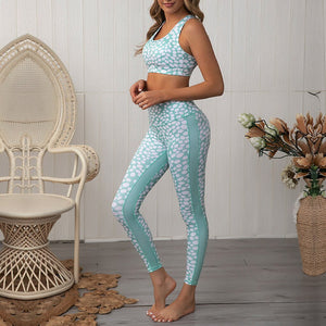 Polka Dot Patchwork Crop Top and High Waist Pants Tracksuit - Dots Clothing Store