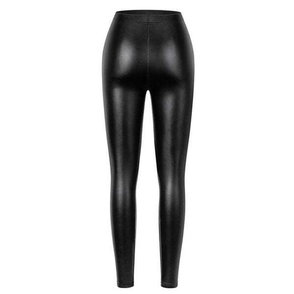 PU Leather High Waist Leggings - Dots Clothing Store