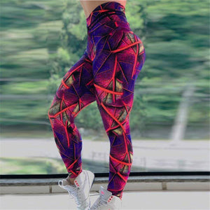 Purple Soft Naked-Feel Athletic Fitness Leggings - Dots Clothing Store