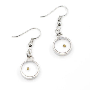Real mustard seed dangling earrings - Dots Clothing Store