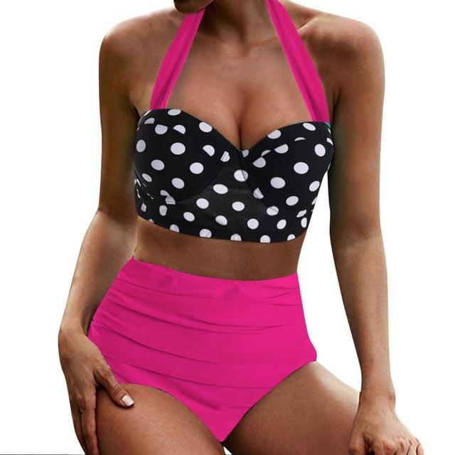 Retro dots theme bikini - Dots Clothing Store