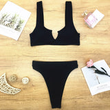Ribbed Knit Bathing Suit - Dots Clothing Store