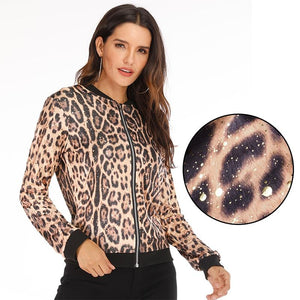 Rose Leopard Polka Dot Spring Jackets - Dots Clothing Store