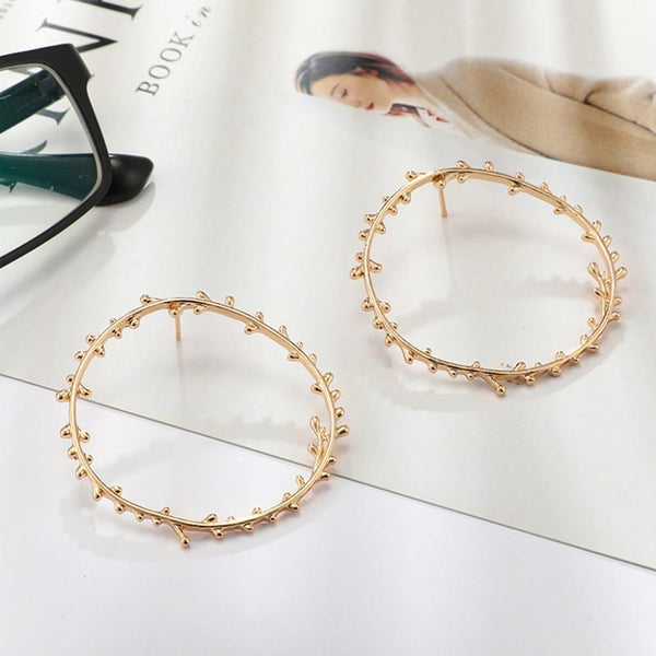 Small irregular circle earrings - Dots Clothing Store