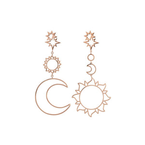 Solar system hollow earrings - Dots Clothing Store
