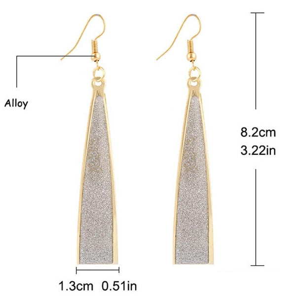 Sparkling drop earrings - Dots Clothing Store