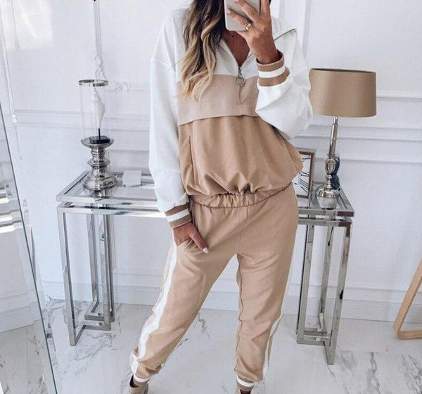 Splice Hooded Top and Pants Set - Dots Clothing Store