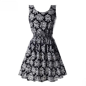 Step out in style Chiffon Floral Sundress - Dots Clothing Store