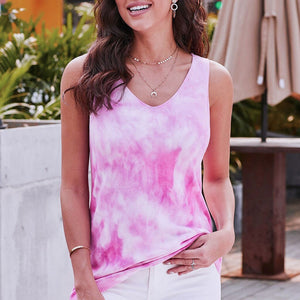 Tie-dye Print Tank Top - Dots Clothing Store