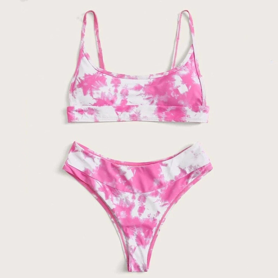 Tie-dye Printed Bathing Suit - Dots Clothing Store