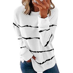 Tie Dye Stripe Oversized Loose Tee - Dots Clothing Store