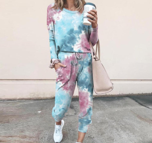 Top Tie Dye Lounge Wear Set - Dots Clothing Store