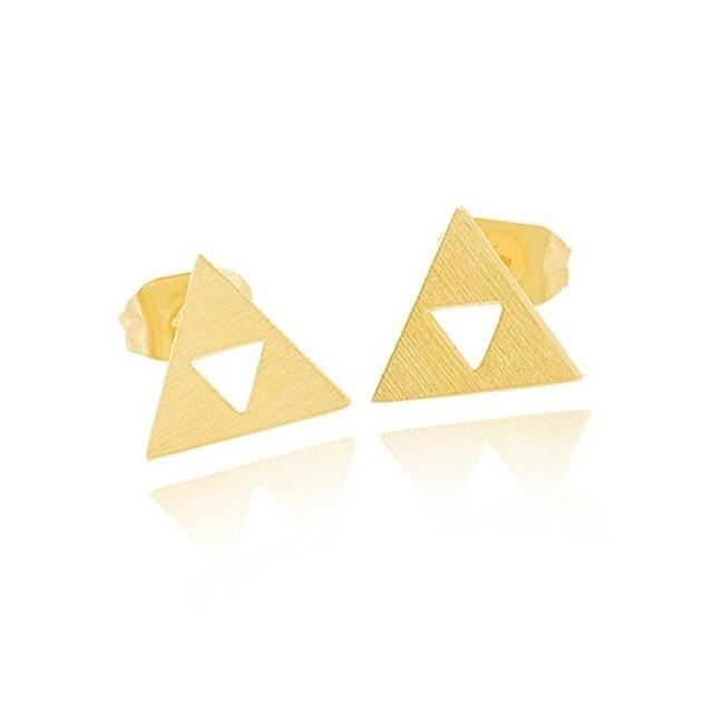 Triforce triangle stud earrings - Dots Clothing Store