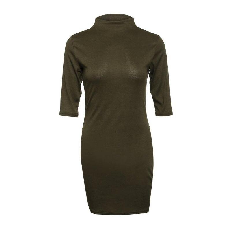 Turtleneck Slim Bodycon Dress - Dots Clothing Store