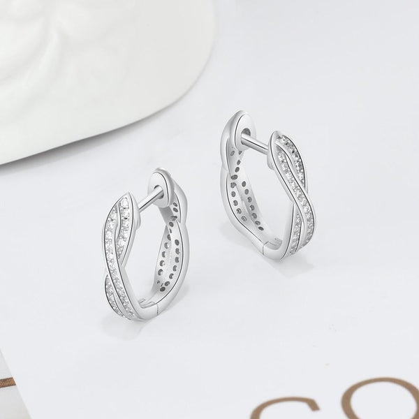 Twisted loops earrings - Dots Clothing Store