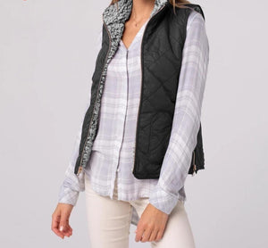 Two-Side Wear Sleeveless Zipper Coat - Dots Clothing Store