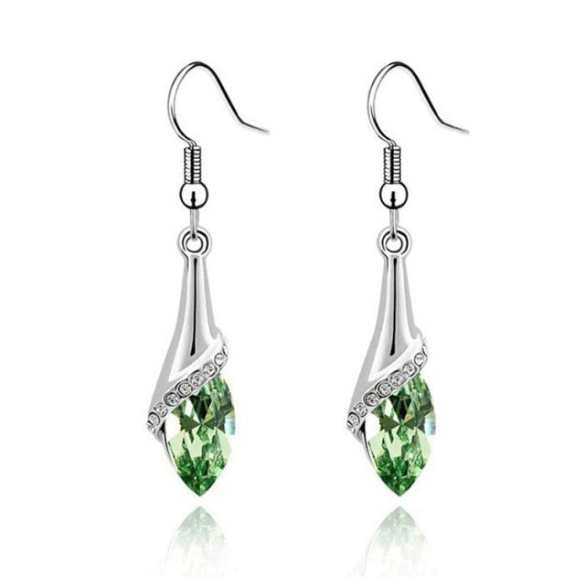 Fashion cut teardrop earrings