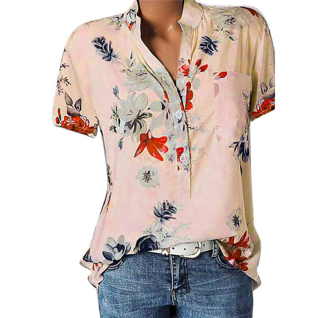 Summer floral dreams print top - Dots Clothing Store