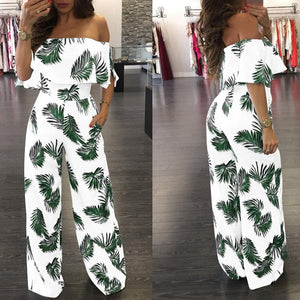 Vintage Boho Beach Jumpsuit - Dots Clothing Store