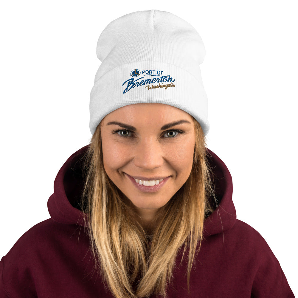 Port of Bremerton Logo Embroidered Beanie