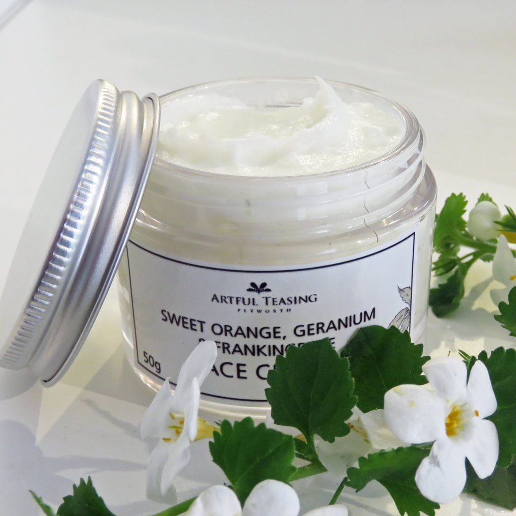 Sweet Orange, Geranium & Frankincense Face Cream 50g - Fragrant Gifts from Artful Teasing