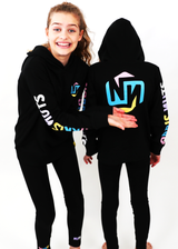 All Night Long Hoodie Black Multi NORRIS NUTS (TOP ONLY)