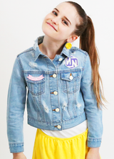 YouTuber Custom Denim Jacket YOUTH