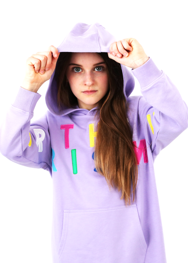 Gangsta Hooded Dress Purple Norris Nuts Multi