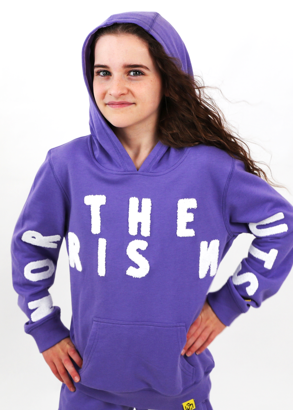 TOP ONLY* Hoodie Purple White NORRIS NUTS Lettering