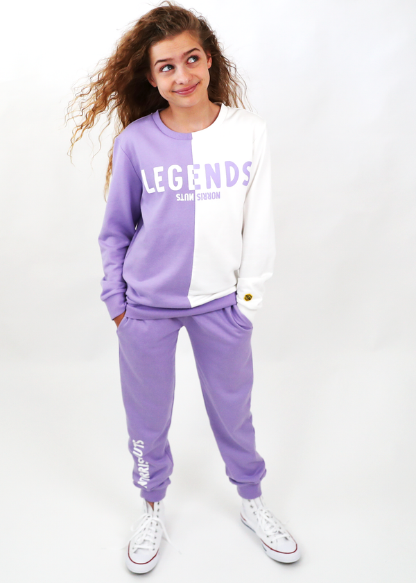 NN Crew Tracksuit FULL SET Purple / White Norris Nuts